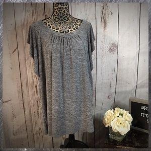 Alyx Gray Flutter blouse 2X